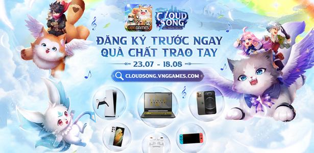 Cloud Song VNG công bố bộ phần thưởng 1 tỷ đồng cho sự kiện Đăng ký sớm
