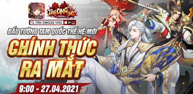 Game đấu tướng Tam Quốc thế hệ mới Tân OMG3Q VNG chính thức ra mắt hôm nay
